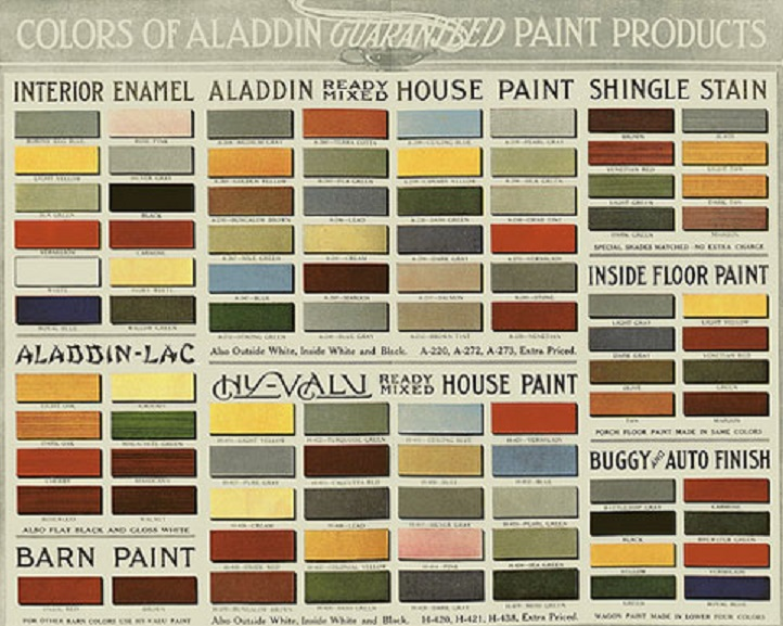 Arts Crafts Kitchens Baths In Lincoln Nebraska Aladdin Color ChartClick To
