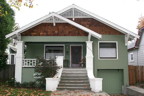 A Front Gable Bungalow Not As Common The Side Style But Equally Spacious