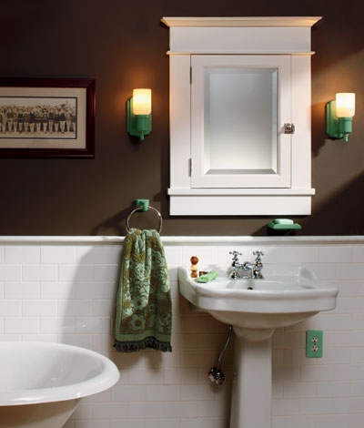 Marvelous Arts U0026 Crafts Baths: Subway Tile Wainscot.