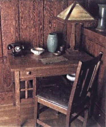 An Arts Crafts Home Office Outfitted With The Very Latest 1920s Technology A Dial Telephone Through Which You Could Little Effort