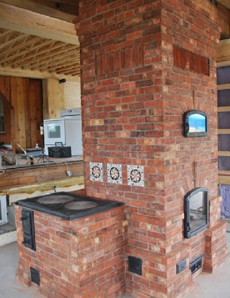 Rumfordmasonrystoveg wood burning masonry stove as designed and built by pyromass of montreal canada you can see why it would not be suitable in most home kitchens workwithnaturefo