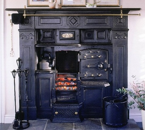 Closed Top English Fireplace Range Reproduced By Gordon Pickles Of The  Yorkshire Range Company From Original Moulds.