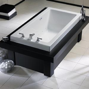 Bath Design Rules: Aqua Glass Tub.