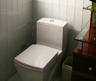 Porcelain Or Ceramic   Contemporary Tiled Bathroom.