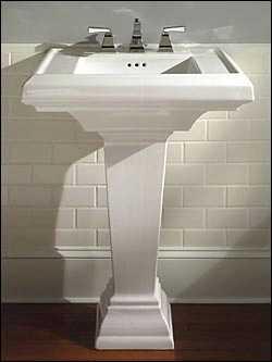 BathPedestalSinkAmericanStandard Pedestal Sink