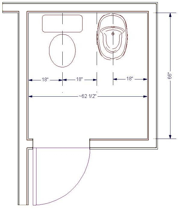 Rules Of Good Bathroom Design Illustrated Homeowner Guide - Bathroom measurements for fixtures