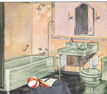 Arts U0026 Crafts Baths: 1936 Advertisement By Crane Plumbing.