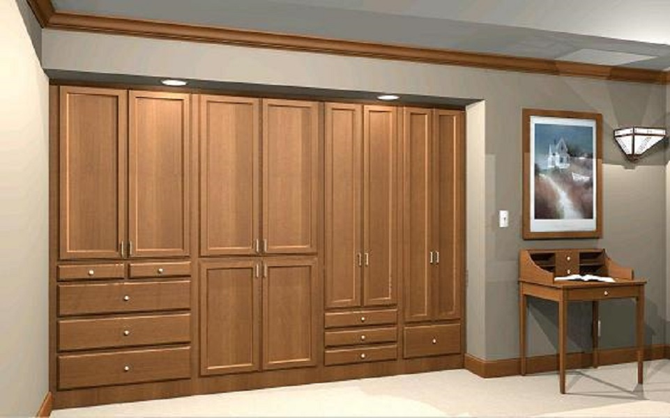 closet design and organization in lincoln nebraska wardrobe wall perspective