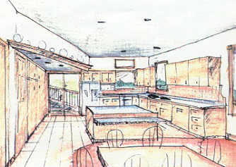 Kitchen Design Sketch on Kitchen Sketch