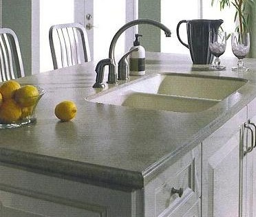 Corian® Solid Surface With Integrated Sink.