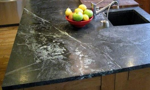 Oiled Soapstone Showing The Light Gray Veins Typical Of The Material. This  Eye Catching Installation By Shadleyu0027s Soapstone.