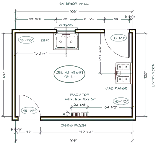 KitchenMeasuringDiagram1 how to measure your kitchen (and other rooms) homeowner guide
