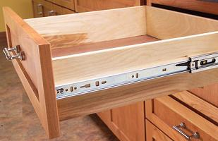 Full Extension, 8 Piece Slides Are Used On Better Cabinet Drawers.