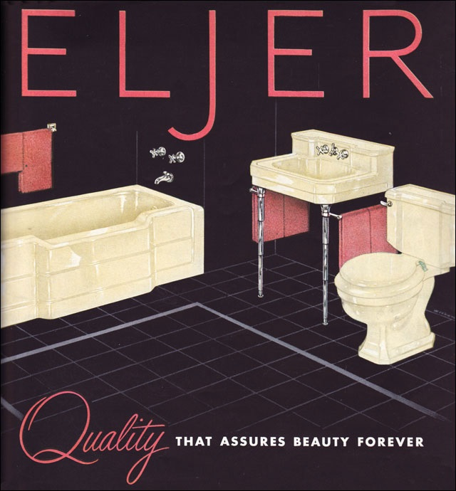 eljer from eljer created the pastel bathroom in the 1930s