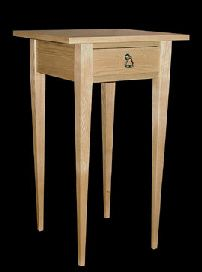 White ash end table